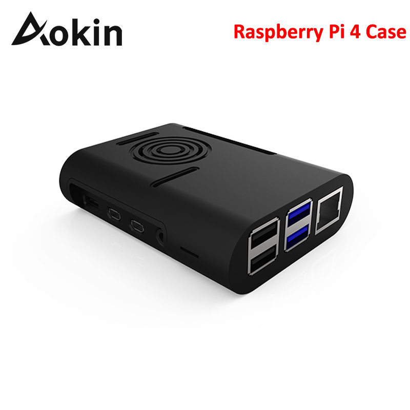Aokin ABS Raspberry Pi 4 Case Black White Case For Raspberry Pi 4 Model B