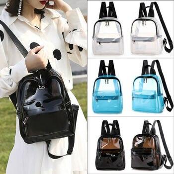 Moda transparente PVC transparente Mini mochila Linda mochila escolar AU