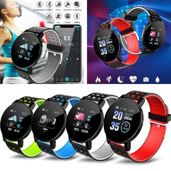 IP67 Waterproof Smart Watch Bracelet Fitness Tracker Pedometer Bluetooth Sleep Heart Rate Blood Pressure Monitoring Wristwatch