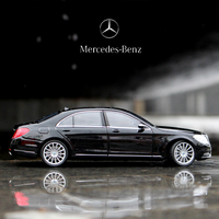 WELLY-coche deportivo Mercedes Benz Clase S 1:24, coche de simulación de aleación de metal, modelo de adornos para manualidades, colección de juguetes, herramientas de regalo