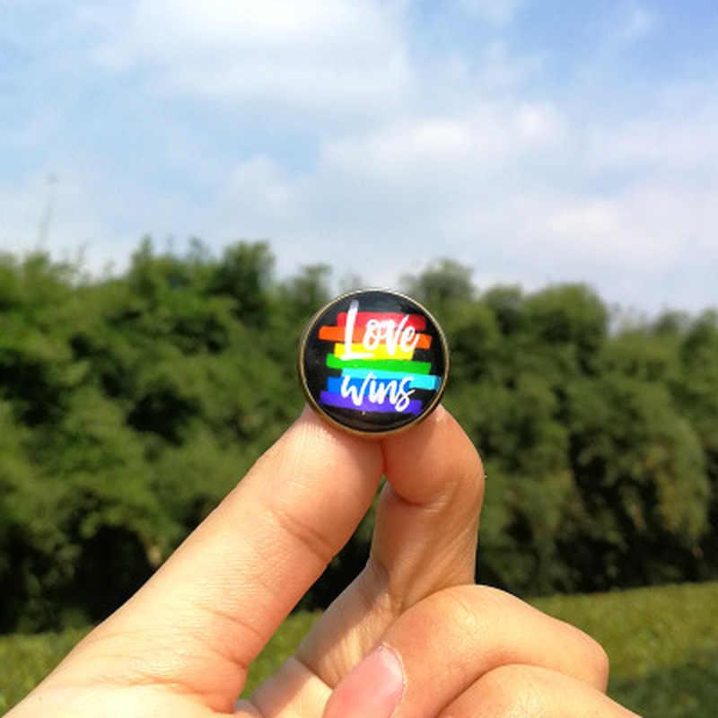 1 Pcs Lgbt Pride Regenboog Hart Pin Back Button Badge Gay Lesbische Symbool Pin Liefde Is Gelijk Diy Kleding Alpaca naaien Accessoires
