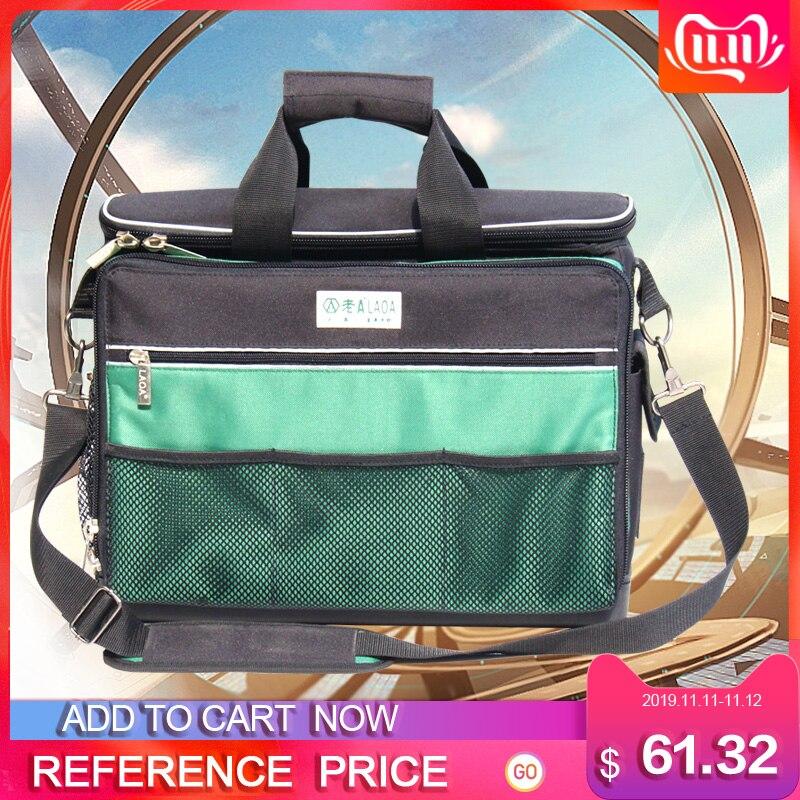 Laoa multi-função ferramenta kit manutenção saco pós-venda bolsa de ombro grande grosso lona oxford pano sacos elétricos