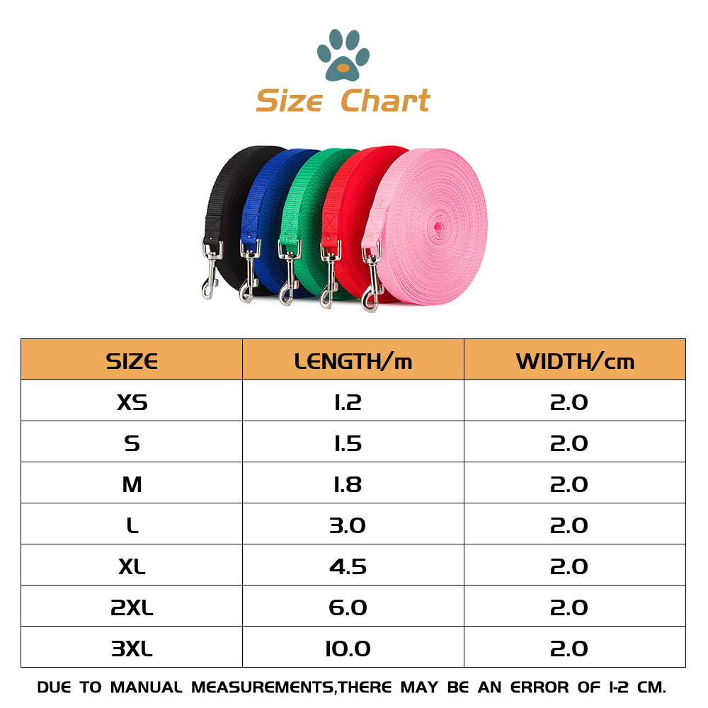 1.2m-10m Longer Pet Leashes Rope Outdoor Training Running Dog Leash Belt PP Dogs Lead For Chihuahua Small And Large Dog Product