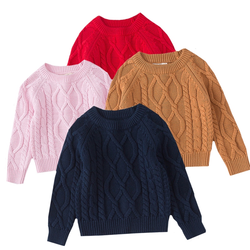 Autumn Baby Boys Girls Sweaters Kids Sweaters Winter Boys Knit Sweater Girls Pullover Sweater 1-7 Yrs Boys Girls Winter Clothes 1