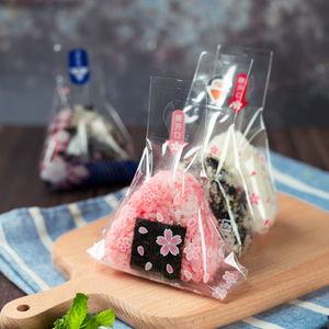 100pcs Japanese style triangle rice ball packing bag Seaweed gift bag Sushi Mold Japanese Cuisine Making Tools Bento Accessories(China)