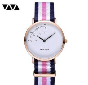 Image 1 - Fashion Design Nylon Women Watch Ladies Quartz Wristwatch Leather Strap ALL match Dress Clock Female montre femme 2019