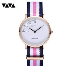 Moda design náilon relógio feminino senhoras quartzo relógio de pulso pulseira de couro all match vestido relógio feminino montre femme 2019