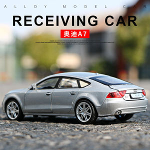 Image 2 - 1:32 Scale For Audi A7 Sportback Luxury Licensed Diecast Metal Alloy Collectible Collection Car Model Sound&Light Toys Vehicle