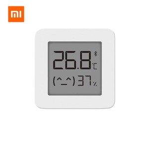 Image 2 - Gebündelt Verkauf Xiaomi Smart Lcd bildschirm Digitale Thermometer 2 Mijia Bluetooth Temperatur Feuchtigkeit Sensor Feuchtigkeit Meter Mijia App