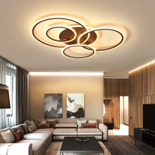White/Brown modern Led Chandelier lighting for bedroom Living room metal+Acrylic lustre luminaria lampadario Ceiling Chandelier brown modern led chandelier for living room bedroom chandelier lighting luminaria lustre lampadario lustres para sala de jantar