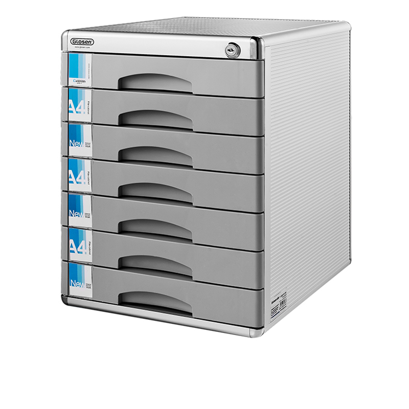 Desktop File Cabinet Locked Aluminum Alloy Information Receiver Office Receiving Drawer-type File Box