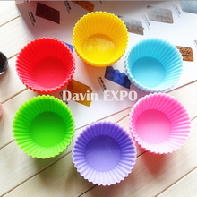 New 12pcs Silicone Cake Cupcake Cup Cake Tool Bakeware Baking Silicone Mold Birthday  Cupcake Liner baking Cup cake Kitchen mold 12 pcs silicone cake muffin chocolate cupcake liner baking cup cookie mold newest hot search