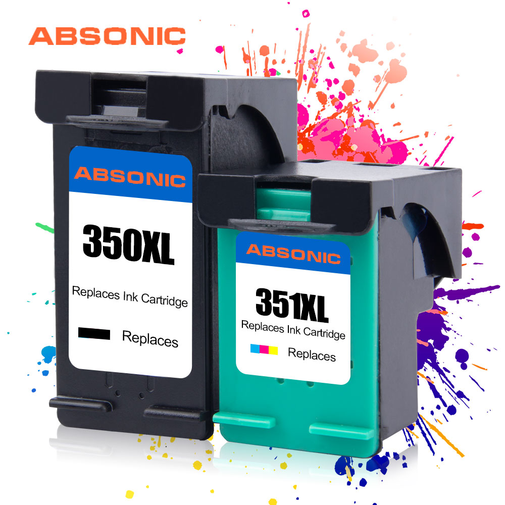 2PCS 350XL 351XL Ink Cartridges Compatible for <font><b>HP</b></font> 350 <font><b>351</b></font> HP350 HP3510 Use for Deskjet D4200 D4260 4260 D4360 C4200 J5730 5780 image