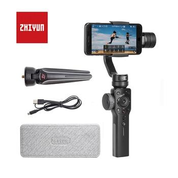 ZHIYUN Smooth 4 Трехосевой стабилизатор для телефона ZHIYUN, официальный гладкий 4 ручные стабилизаторы для iPhone/Samsung/Gopro Hero/Xiaomi/Yi 4k экшн камеры