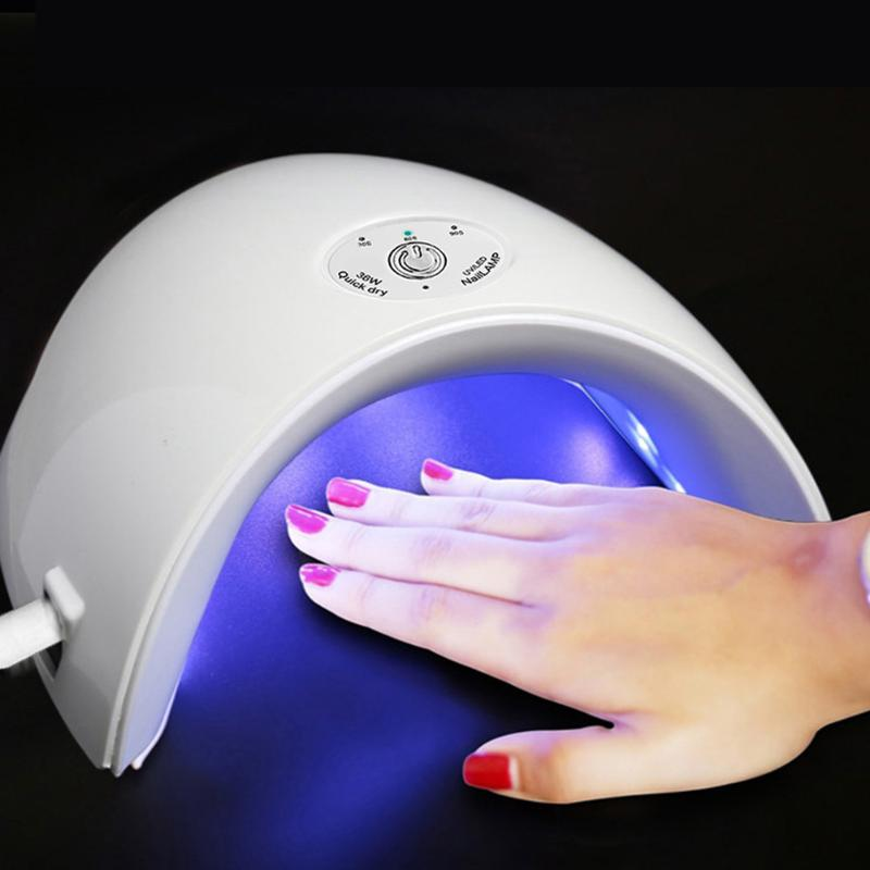 36W UV LED Nail Lamp Dual Source Infrared Sensing Nail Dryer 30s 60s 90s Timing Nail UV Lamp Manicure Dryer Light