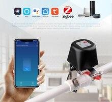 Tuya Zigbee 3.0 Water Shut Off Valve Smart Wireless Control Gas Zigbee Controller Sensor linkage  work with  Alexa Google Home