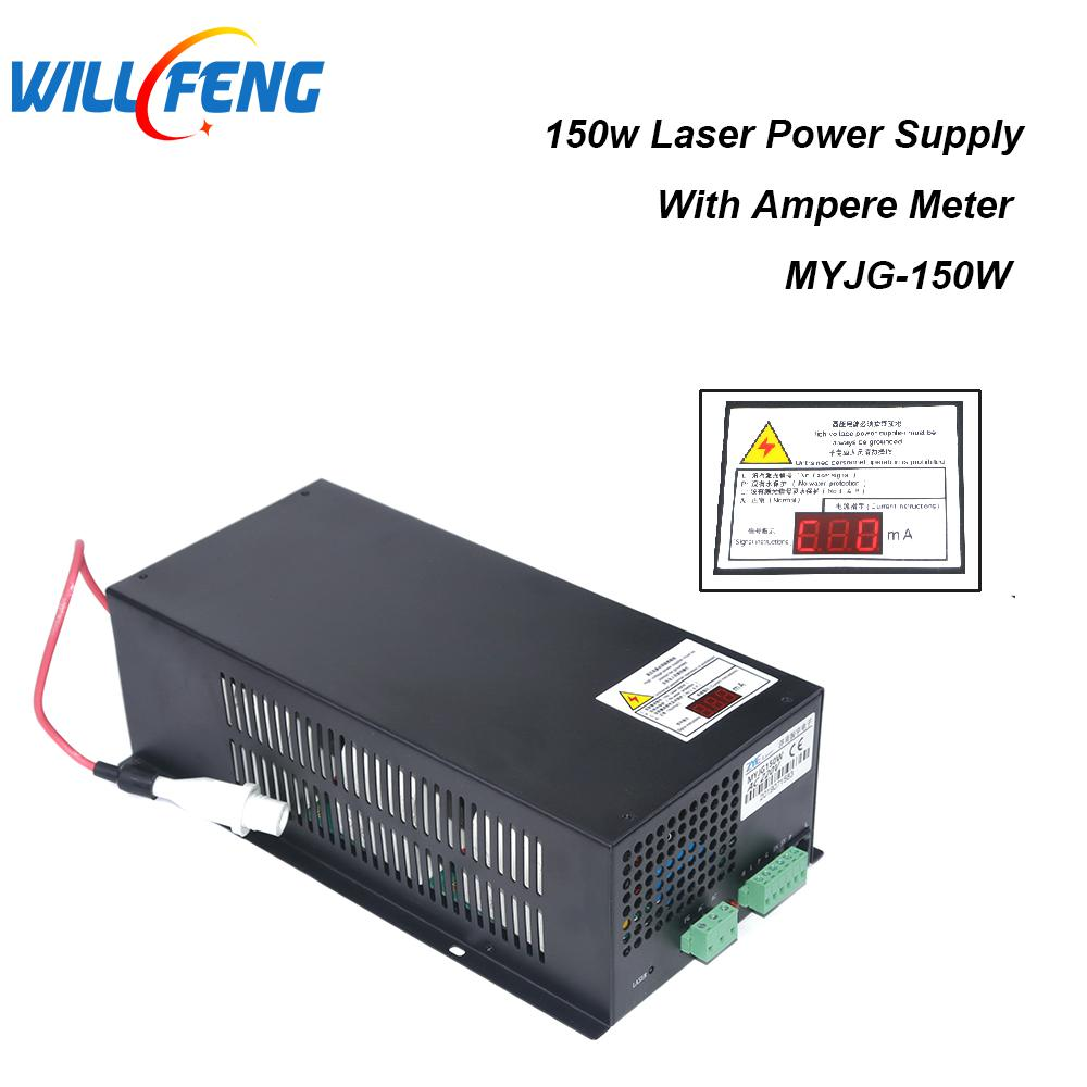 Will Feng MYJG 150w Co2 Laser Power Supply For Co2  Laser Cutter Engraving Machine ,150W Power Supply Box With Ammeter