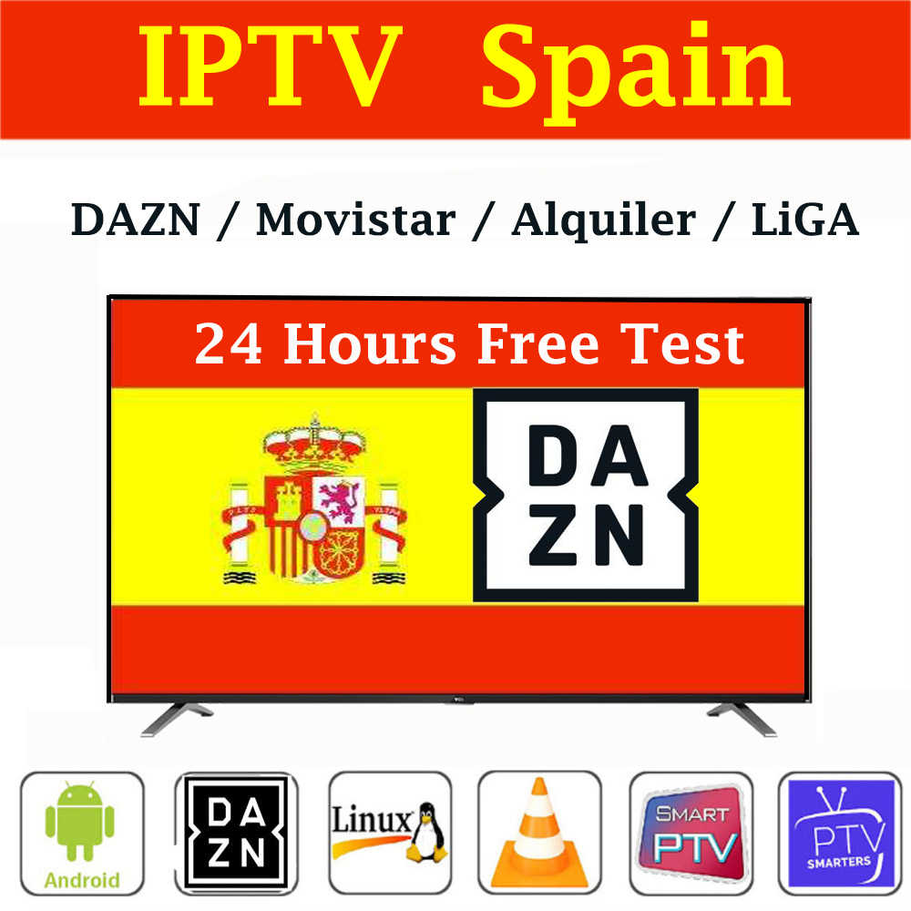 Estable IPTV España m3u Subscriptiom España DAZN LIGA de fútbol Movistar Alquiler para smart TVBox smart IPTV smarters Android TV MAG
