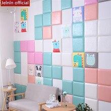 Красочные квадратные узоры татами мягкая сумка обои Гостиная Спальня детский сад детская комната ТВ диван фон наклейки на стену