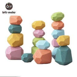 Wooden Baby Toys For Children Rainbow Educational Building Block Colored Stone Stacking Game Creative Dropshipping Montessori