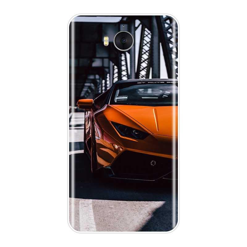 Miękki futerał na telefon do Huawei Y3 Y5 Y6 II Y7 2017 Pro samochód sportowy opona silikonowa tylna pokrywa dla Huawei Y5 Y6 Y7 Prime 2018 Y9 2019