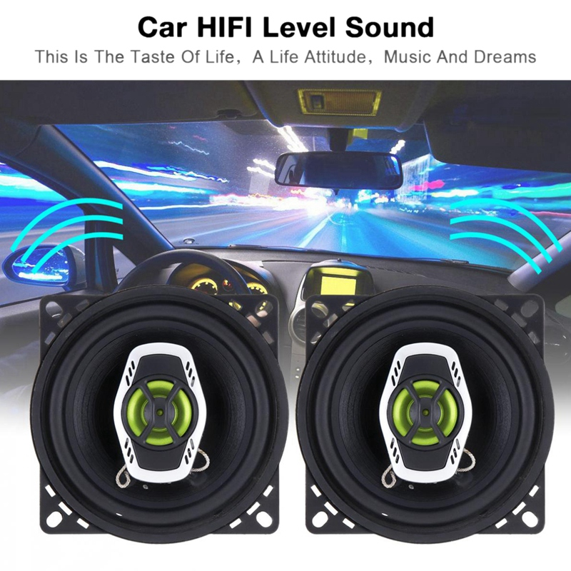 4 Inch 400W Car Coaxial Speaker Speaker Automatic Audio Music Stereo Audio Speaker Music Stereo Full Range Frequency Loudspeaker