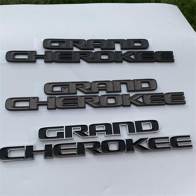 ABS 3d Fender Side Sticker for Jeep Grand Cherokee srt wj wk wk2 zj Car Logo Black Emblem Exterior Rear Decal Auto Modification 2