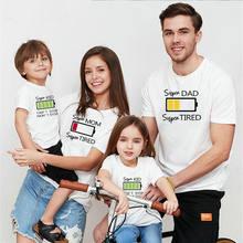 Рубашка для всей семьи одежда «Мама и я» одинаковые футболки