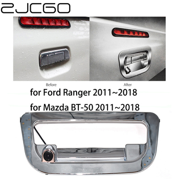 цена на ZJCGO HD CCD Car Rear View Reverse Back Up Parking Trunk Handle Camera for Ford Ranger T6 for Mazda BT-50 BT50 UP UR 2011~2018