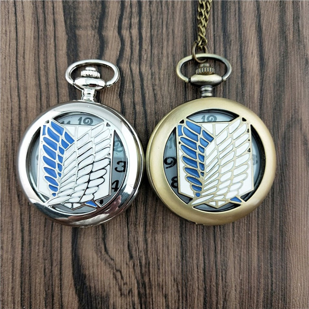 Flying Freedom Angel Vintage Antique Round Dial Quartz Pocket Watch Necklace Pendant Clock For Mens Womens Best Gifts