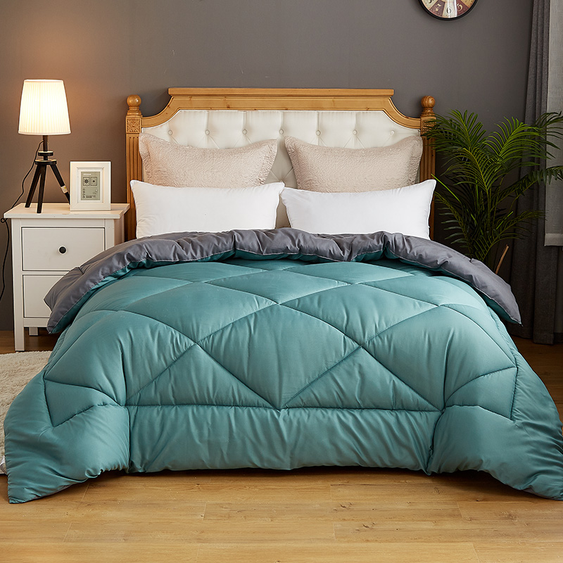 Pure Color Thicken Duvet With Stuffing Patchwork Quilt Warm Winter Bed Cover Winter Thicken Comforter New Bedset 220*240cm