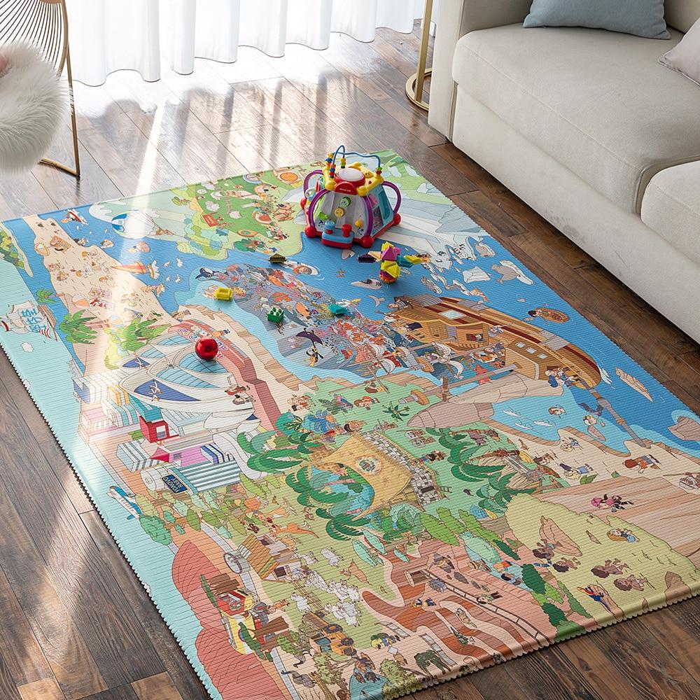 Tapis de jeu rampant pour bébé XPE tapis de Protection de l'environnement amusant navire marin salon sans odeur pour enfants tapis d'activité