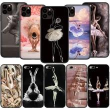 T18 балетная балерина для девочек силиконовый мягкий чехол для iPhone 12 Mini 11 Pro XS Max XR X 8 7 6 6S Plus 5 5S SE 2020