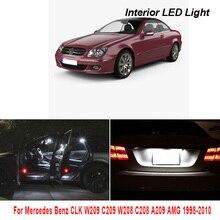 Para Mercedes Benz CLK W209 C209 W208 C208 A209 AMG 1998-2010 vehículo luz LED Interior Canbus No Error accesorios de coche