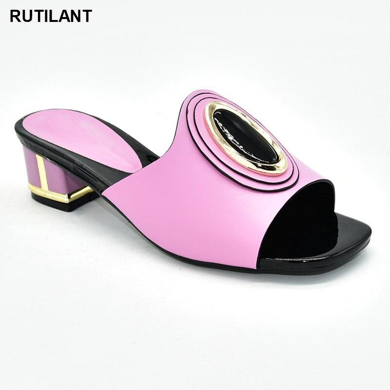 Woman Shoes 2020 Spring Latest African Women Weddding Pumps Rhinestone Wedding Party Shoe Nigerian Woman Sandals High Quality|Women's Pumps| - AliExpress