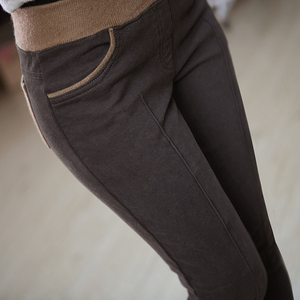 Image 3 - Plus Size S 4XL Women Pencil Pants high waist Skinny Black Thick Velvet Warm Winter Leggings Jeggings  Legins Feminina Trousers