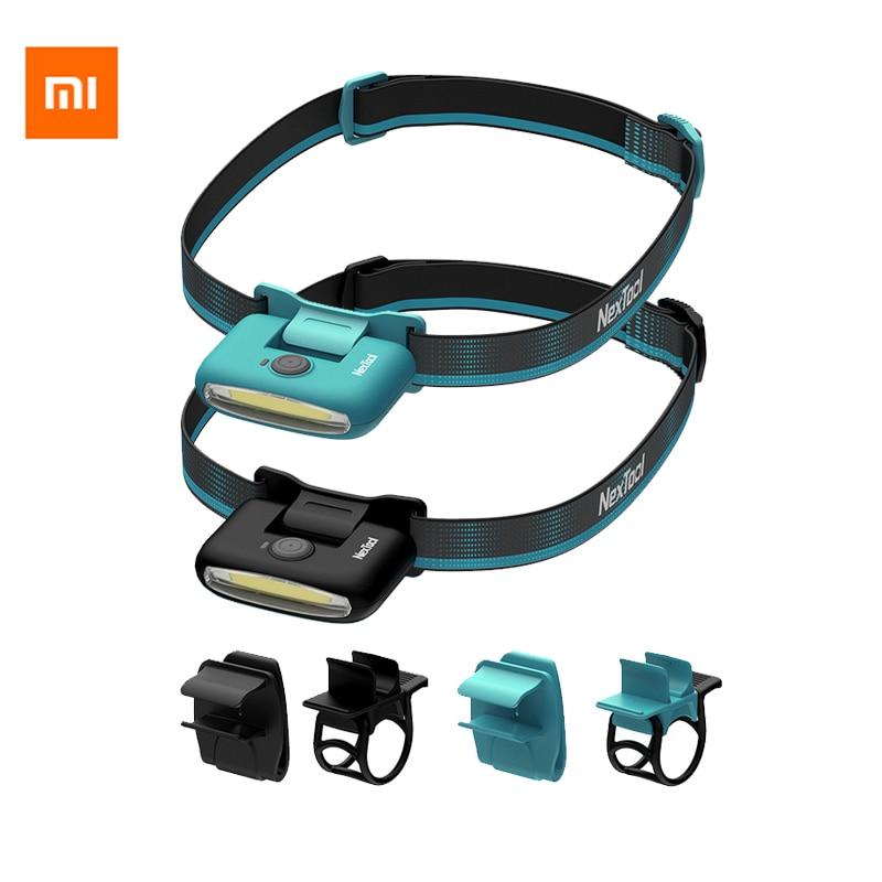 Налобный фонарь Xiaomi COB, Многофункциональный водонепроницаемый светодиодный фонарь с аккумулятором типа C, портативный уличный светильник д...