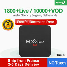 IPTV France Arabic Netherlands QHDTV Box MX9Pro Android 8.1 1G+8G RK3228A 1 Year Belgium