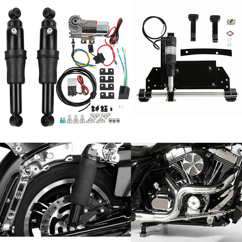Motorcycle Rear Air Ride Suspension Electric Center Stand For Harley Road King Electra Glide Road Glide Street Glide 2009-2016