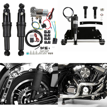 Motorcycle Rear Air Ride Suspension Electric Center Stand For Harley Road King Electra Glide Street 2009-2016