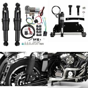 Image 1 - Suspensión trasera de aire para motocicleta, soporte central eléctrico para Harley Road King Electra Glide Road Glide Street Glide 2009 2016