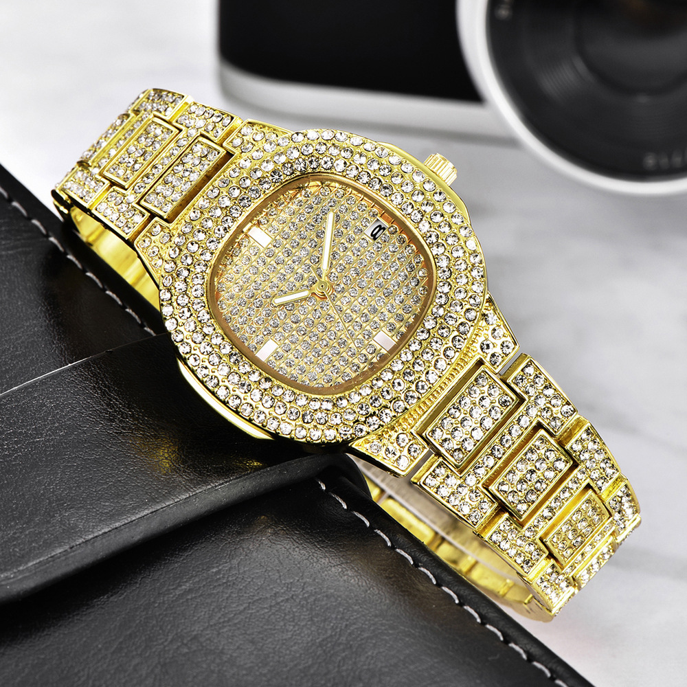 dropshipping new 2020 hip hop watches for women iced out diamonds quartz watch female clock fashion wristwatches (3)