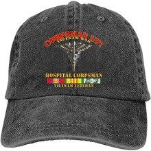 108th Infantry Division Airborne Adjustable Baseball Caps Denim Hats Cowboy Sport Outdoor