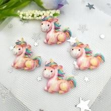Scrapbook-Phone Cabochon Unicorn Flatback Decoration-Art Resin DIY Cute 20pcs/Lot