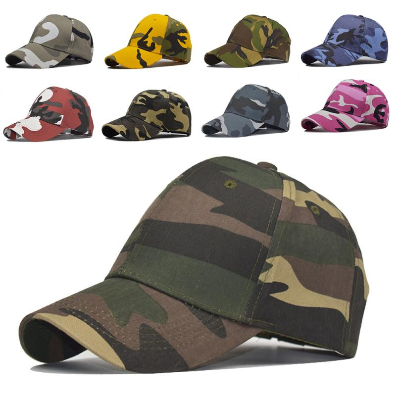 9 Colors Camouflage Baseball Cap Hat Hip-Hop Adjustable Outdoor Sports Caps Lengthened Travel Peaked Cap For Men Women Gifts