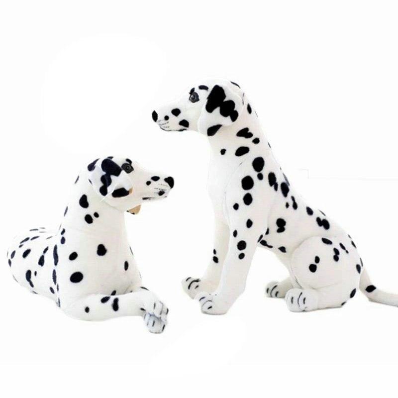 Stuffed Animals Plush Dalmatian Dog Toy Lifelike Giant Dog Toy Realistic Animal Kids Toys Gift For Children Pet Shop Mascot