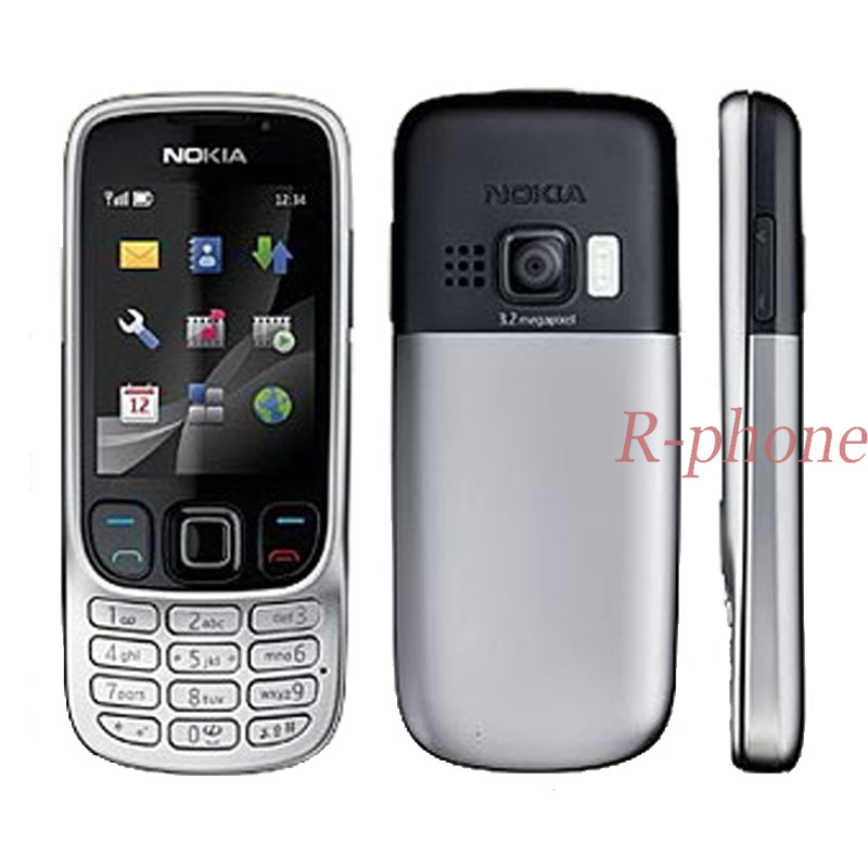 Nokia 6303c Refurbished Classic GSM 3MP Arabic Keyboard Cellphone Original Russian Hebrew title=