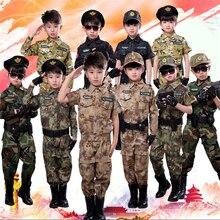 Детские военные тактические костюмы ACU, камуфляжные короткие и длинные армейские костюмы, Студенческая верхняя одежда для мальчиков, тренировочная форма