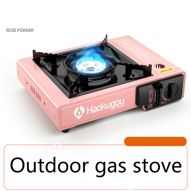 Portable Cass Hot Pot Outdoor Barbecue Furnace Household Gas Gas Stove Windbreak Gas Stove Outdoor Portable Gas Stove