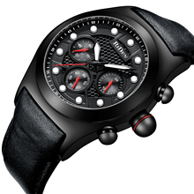 цена на BIDEN Fashion Clock Mens Watches Stylish Quartz Male Watch Waterproof Black Leather Strap New Arrival Wristwatch Erkek Kol Saati